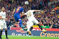 Sevilla FC Gabriel Ivan Mercado and FC Barcelona Luis Suarez during King's Cup Finals match between Sevilla FC and FC Barcelona at Wanda Metropolitano in Madrid, Spain. April 21, 2018. (ALTERPHOTOS/Borja B.Hojas)