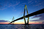 Arthur Ravenel Jr Bridge Sunset Cooper River