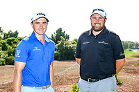 Paul Dunne and Shane Lowry during the preview to the DP World Tour Championship, Jumeirah Golf Estates, Dubai, United Arab Emirates. 14/11/2018<br /> Picture: Golffile | Fran Caffrey<br /> <br /> <br /> All photo usage must carry mandatory copyright credit (&copy; Golffile | Fran Caffrey)