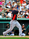 13 March 2012: Atlanta Braves outfielder Matt Diaz in action during a Spring Training game against the Miami Marlins at Roger Dean Stadium in Jupiter, Florida. The two teams battled to a 2-2 tie playing 10 innings of Grapefruit League action. Mandatory Credit: Ed Wolfstein Photo