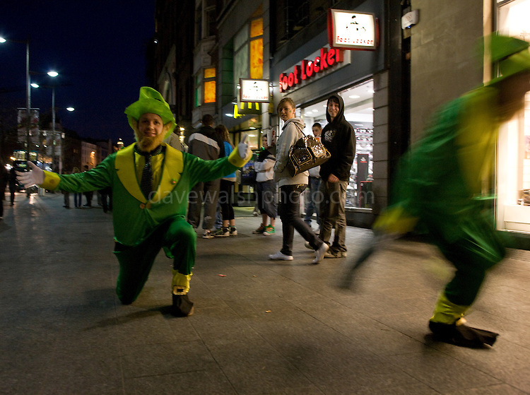 German Leprechauns on Dublin's O'Connell St, St. Patrick's Day, 2009