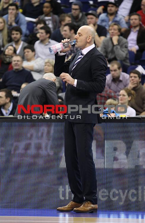 31.12.2013, O2 world, Berlin, GER, 1.BBL, ALBA Berlin vs Phoenix Hagen, im Bild Cheftrainer (Head Coach) Sasa Obradovic (ALBA Berlin)<br /> <br />               <br /> Foto &copy; nordphoto /  Schulz