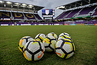 Orlando, FL - Friday Oct. 06, 2017: NIKE game Balls during a 2018 FIFA World Cup Qualifier between the men's national teams of the United States (USA) and Panama (PAN) at Orlando City Stadium.