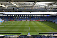 General view Stadium Photo before kick off at the Sellebrity Soccer Match in aid of Charity at the King Power Stadium, Leicester, England on 12 October 2014. Photo by Andy Rowland.