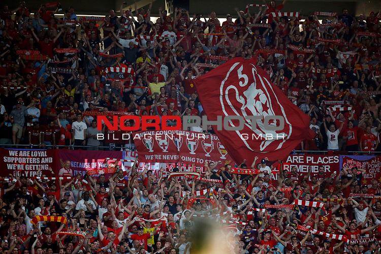 Liverpool fans during UEFA Champions League match, Final Roundl between Tottenham Hotspur FC and Liverpool FC at Wanda Metropolitano Stadium in Madrid, Spain. June 01, 2019.(Foto: nordphoto / Alterphoto /Manu R.B.)