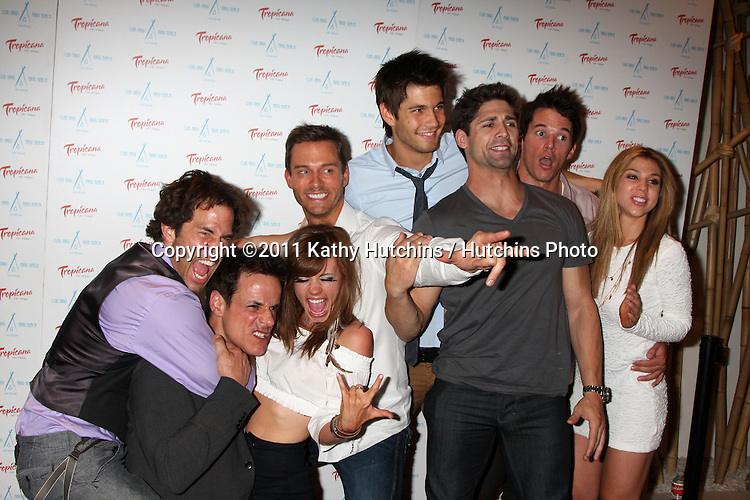 LAS VEGAS - JUN 18:  Back Row l-r:  Shawn Christian, Molly BUrnett, Eric Martsolf, Casey Deidrick, Mark Hapka, Kate Mansi, Front Row l-r:  Christian LeBlanc, Bren Foster arriving at the Innovative Artists Pre-Emmy Party at Nikki Beach at the Tropicana Hotel on June 18, 2010 in Las Vegas, NV.