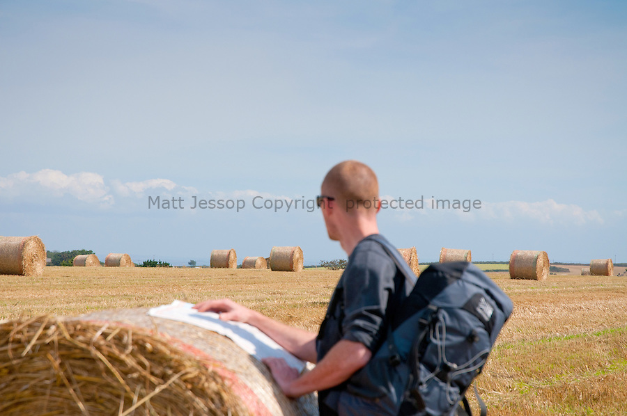Reading bales  (with model release)