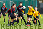 St Brendan's Park Bruno Biowzy and Kyle Foley of Aisling Annacotty trying to gain possession in the U13 National Cup in Christy Healy Park on Saturday
