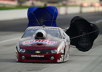 Sept. 1, 2012; Claremont, IN, USA: NHRA pro stock driver Greg Anderson during qualifying for the US Nationals at Lucas Oil Raceway. Mandatory Credit: Mark J. Rebilas-