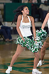 North Texas Mean Green cheerleaders in action during the game between the Jackson State Tigers and the North Texas Mean Green at the Super Pit arena in Denton, Texas. UNT defeats Jackson State 83 to 65...