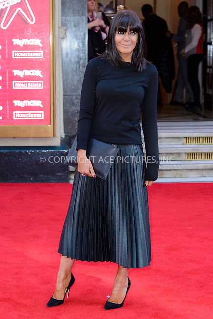 www.acepixs.com<br /> <br /> March 15 2017, London<br /> <br /> Claudia Winkleman arriving at The Prince's Trust Celebrate Success Awards at the London Palladium on March 15 2017 in London<br /> <br /> By Line: Famous/ACE Pictures<br /> <br /> <br /> ACE Pictures Inc<br /> Tel: 6467670430<br /> Email: info@acepixs.com<br /> www.acepixs.com