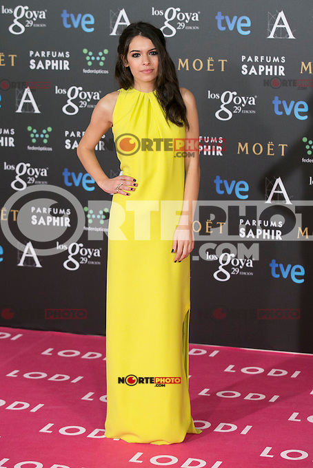 Claudia Traisac attend the 2015 Goya Awards at Auditorium Hotel, Madrid,  Spain. February 07, 2015.(ALTERPHOTOS/)Carlos Dafonte) /NORTEphoto.com