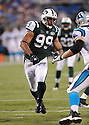 JASON TAYLOR, of the New York Jets in action during the Jets game against the Carolina Panthers  at Bank of America Stadium in Charlotte, N.C.  on August 21, 2010.  The Jets beat the Panthters 9-3 in the second week of preseason games...