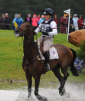 Blair Atholl, Scotland, UK. 12th September, 2015. Longines  FEI European Eventing Championships 2015, Blair Castle. Pippa Funnell (GBR) riding Sandman 7 during the Cross country phase © Julie Priestley