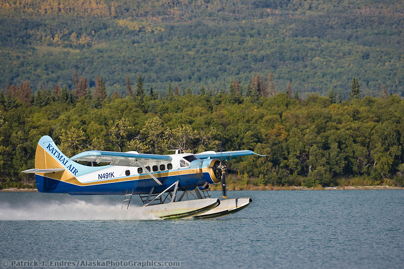 An Otter on floats transports visitors to Brooks lodge, Katmai National Park, Alaska.
