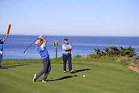 Gerry McIlroy (NIR) tees off the 4th tee at Spyglass Hill during Thursday's Round 1 of the 2018 AT&amp;T Pebble Beach Pro-Am, held over 3 courses Pebble Beach, Spyglass Hill and Monterey, California, USA. 8th February 2018.<br /> Picture: Eoin Clarke | Golffile<br /> <br /> <br /> All photos usage must carry mandatory copyright credit (&copy; Golffile | Eoin Clarke)