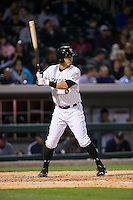 Neftali Soto (6) of the Charlotte Knights at bat against the Scranton\Wilkes-Barre RailRiders at BB&T BallPark on May 1, 2015 in Charlotte, North Carolina.  The RailRiders defeated the Knights 5-4.  (Brian Westerholt/Four Seam Images)