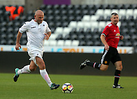 Andy Robinson of Swansea Legends scores a goal during the Swansea Legends v Manchester United Legends at The Liberty Stadium, Swansea, Wales, UK. Wednesday 09 August 2017