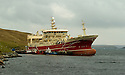 19/10/2005         Copyright Pic : James Stewart.File Name : jspa01 shetland fish.THE SUPER TRAWLER, ALTAIRE, DWARFS OTHER BOATS AS IT SITS AT THE PIER AT THE COLLA FIRTH ON SHETLAND...Payments to :.James Stewart Photo Agency 19 Carronlea Drive, Falkirk. FK2 8DN      Vat Reg No. 607 6932 25.Office     : +44 (0)1324 570906     .Mobile   : +44 (0)7721 416997.Fax         : +44 (0)1324 570906.E-mail  :  jim@jspa.co.uk.If you require further information then contact Jim Stewart on any of the numbers above.........
