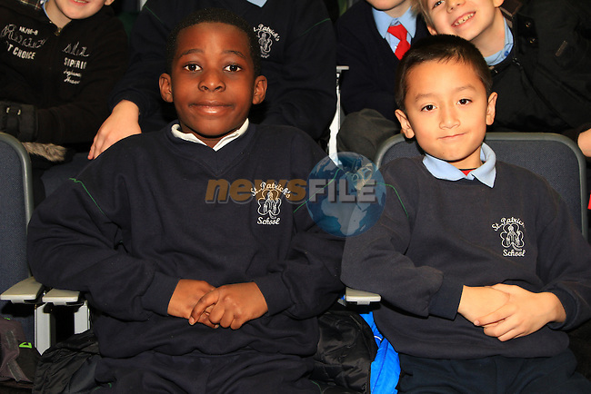 Farrell and Kevin in the Barbican for 'Drogheda Reads Roddy Doyle'..Picture: Shane Maguire / www.newsfile.ie.