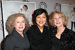 Producer Elizabeth Hemmerdinger, director Chiemi Karasawa, and producer Cheryl Wisenfeld attends the 'Elaine Stritch: Shoot Me' screening at The Paley Center For Media on February 19, 2014 in New York City.