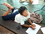 Floating Lives on the Tonle Sap - at school. The only floating school teaches children until 7th grade.