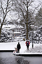 29/01/15<br /> <br /> Pavilion Gardens.<br /> <br /> Heavy snowfall results in multiple accidents, stranded vehicles and traffic chaos as the wintery weather does its best to shut down theDerbyshire Peak District town of Buxton.<br /> <br /> All Rights Reserved - F Stop Press.  www.fstoppress.com. Tel: +44 (0)1335 418629 +44(0)7765 242650