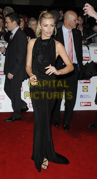 Abigail Clancy.The Pride of Britain Awards 2012, Grosvenor House Hotel, Park Lane, London, England..October 29th, 2012.full length abbey black dress sleeveless hand on hip.CAP/CAN.©Can Nguyen/Capital Pictures.