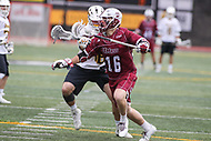 Towson, MD - May 6, 2017: UMASS Minutemen Jake Lisauskas (16) in action during game between Towson and UMASS at  Minnegan Field at Johnny Unitas Stadium  in Towson, MD. May 6, 2017.  (Photo by Elliott Brown/Media Images International)