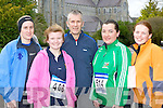 Leanne McCarthy, Niamh O'Callaghan, Dan McCarthy all Tralee, Mary B Teahan and Emily Ahern both Cromane who competed at the 5km in Killarney on Saturday..