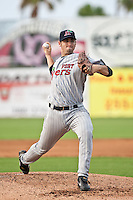 Bobby Lanigan of the Ft. Myers Miracle during the game against the Daytona Cubs July 15 2010 at Jackie Robinson Ballpark in Daytona Beach, Florida. Photo By Scott Jontes/Four Seam Images