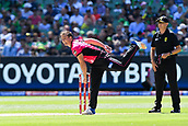 10th February 2019, Melbourne Cricket Ground, Melbourne, Australia; Australian Big Bash Cricket, Melbourne Stars versus Sydney Sixers;  Stephen O'Keefe of the Sydney Sixers bowls the ball
