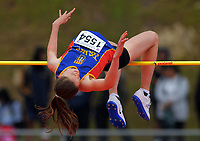 Jess Jenkins (Tawa College) competes in the senior girls' high jump. 2019 New Zealand Secondary Schools Athletics Championships at Newtown Park in Wellington, New Zealand on Sunday, 8 December 2019. Photo: Dave Lintott / lintottphoto.co.nz