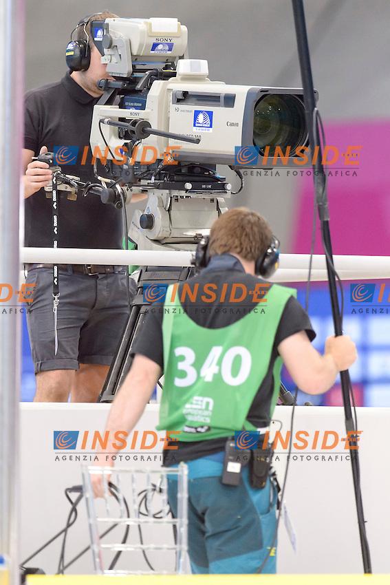 TV CAMERAS<br /> London, Queen Elizabeth II Olympic Park Pool <br /> LEN 2016 European Aquatics Elite Championships <br /> Swimming<br /> Day 09 17-05-2016<br /> Photo Andrea Staccioli/Deepbluemedia/Insidefoto