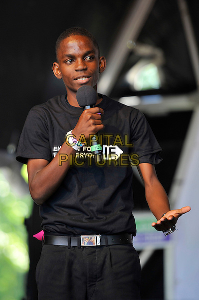 Frank Kapeta <br /> attending The Big IF, Hyde Park, London, England. <br /> 8th June 2013<br /> half length black  t-shirt microphone  <br /> CAP/MAR<br /> &copy; Martin Harris/Capital Pictures