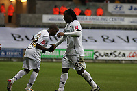 Pictured: Jason Scotland (right) of Swansea City<br /> Re: Coca Cola Championship, Swansea City Football Club v Watford at the Liberty Stadium, Swansea, south Wales 09 November 2008.<br /> Picture by Dimitrios Legakis Photography (Athena Picture Agency), Swansea, 07815441513