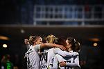 03.12.2017, Platz 11, Bremen, GER, DFB Pokal der Frauen, Achtelfinale, SV Werder Bremen vs SGS Essen, <br /> <br /> im Bild | picture shows<br /> Lea Schueller (SGS Essen #24) trifft zum 2:0 und jubelt mit Linda Dallmann (SGS Essen #10), Isabel Hochstein (SGS Essen #5) und Nicole Anyomi (SGS Essen #17), <br /> <br /> Foto &copy; nordphoto / Rauch