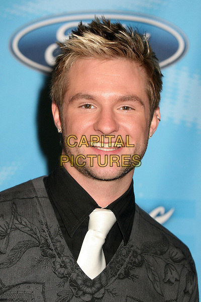 "BLAKE LEWIS.""American Idol"" Season 6 Top 12 Finalists Party at Astra West/Pacific Design Center, West Hollywood, California, USA, 8 March 2007..portrait headshot white tie black shirt.CAP/ADM/BP.©Byron Purvis/AdMedia/Capital Pictures."