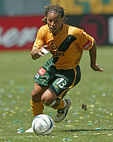 Los Angeles Galaxy Cobi Jones against the Chicago Fire at The Home Depot Center, June 12, 2004.
