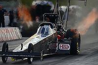 Jan. 16, 2013; Jupiter, FL, USA: NHRA top fuel dragster driver Bob Vandergriff Jr during testing at the PRO Winter Warmup at Palm Beach International Raceway.  Mandatory Credit: Mark J. Rebilas-