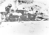 Engine crew with #286 and #204 doubled headed at Embudo.  Print is mislabeled on back as taken at Chama.<br /> D&amp;RG  Embudo, NM  Taken by Lively, Charles R. - 1907-1908