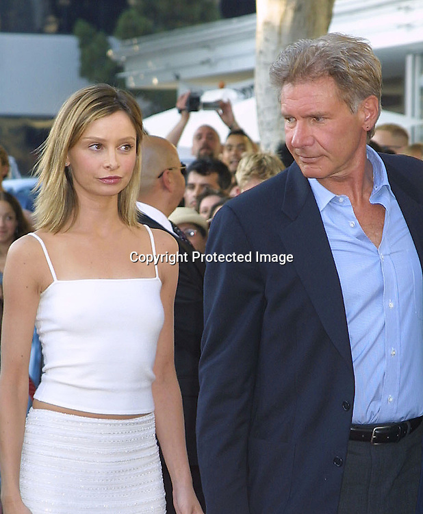 "©2002 KATHY HUTCHINS / HUTCHINS PHOTO.""K-19: THE WIDOWMAKER"" PREMIERE.WESTWOOD, CA.7/15/02..CALISTA FLOCKHART, HARRISON FORD"