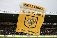 A Hull City banner is displayed ahead of the Premier League match <br /> Hull City vs Manchester United -  Barclays Premier League - 27/08/2016 <br /> Foto Action Images / Panoramic / Insidefoto <br /> ITALY ONLY