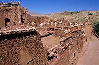 Ancient walls and ruins of Telouet, Morocco.