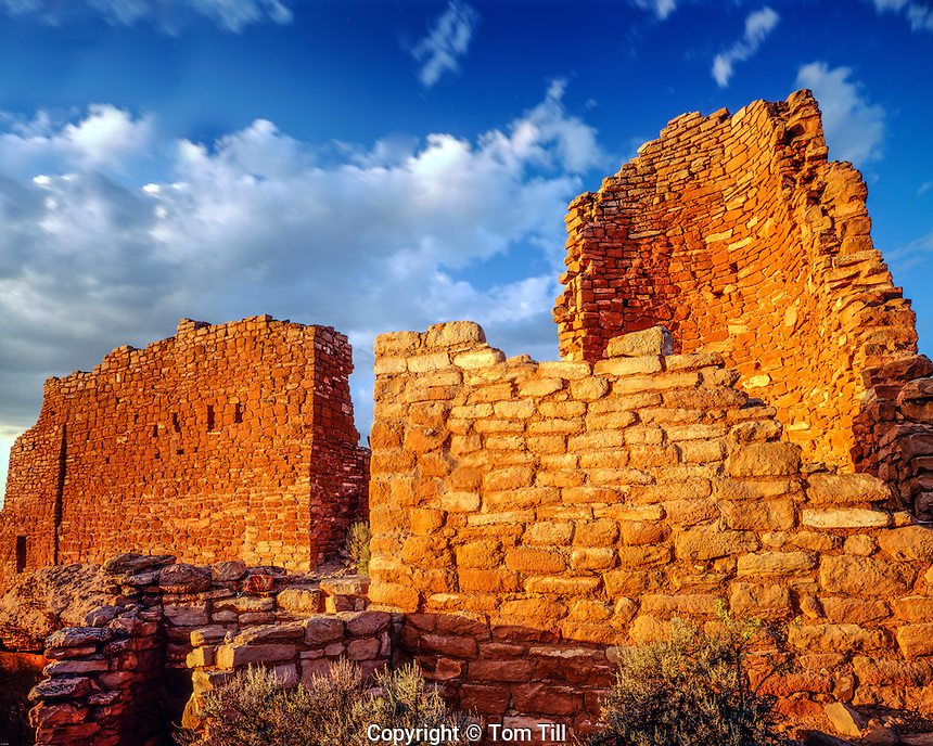 Hovenweep CAstle, Hovenweep National Monument, Utah, Anasazi ruins in Southwest Utah, sunset, September