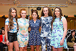 Models Tirna Brosnan, Katie Ellard, Katie McCarthy, Juliet Clifford, Caoimhe Hanafin at the  Churchill GAA Fashion Show at Ballyroe Height Hotel on Thursday