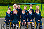 M/s Kiely's junior infants class at Knockanure NS on their first day at school. Front : Liam Stack, Shauna Horgan, Hazel O'Connor, Megan Whyte & James Lynch. BacK : Darragh Kennelly, M/s Kiely, Jack Harding, Ryan Ferritrer, Simon Buckley & Jack Lyons.