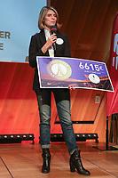 SYLVIE TELLIER (PRESIDENTE LES BONNES FEES) - CONFERENCE DE PRESSE ECOTRAIL PARIS AU SALON GUSTAVE EIFFEL DE LA TOUR EIFFEL, PARIS, FRANCE, LE 18/01/2018.