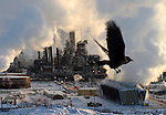 The Syncrude Canada upgrader facility north of  Fort McMurray, Alberta, Canada on Tuesday, January 18, 2005. .John Ulan