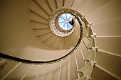 Interior stairs to get to the newly-restored interior dome are seen at the US Capitol in Washington, DC, November 15, 2016. <br /> Credit: Olivier Douliery / Pool via CNP